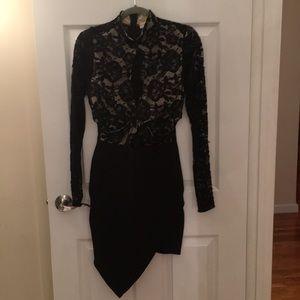 Dresses & Skirts - Black lace lightly padded dress